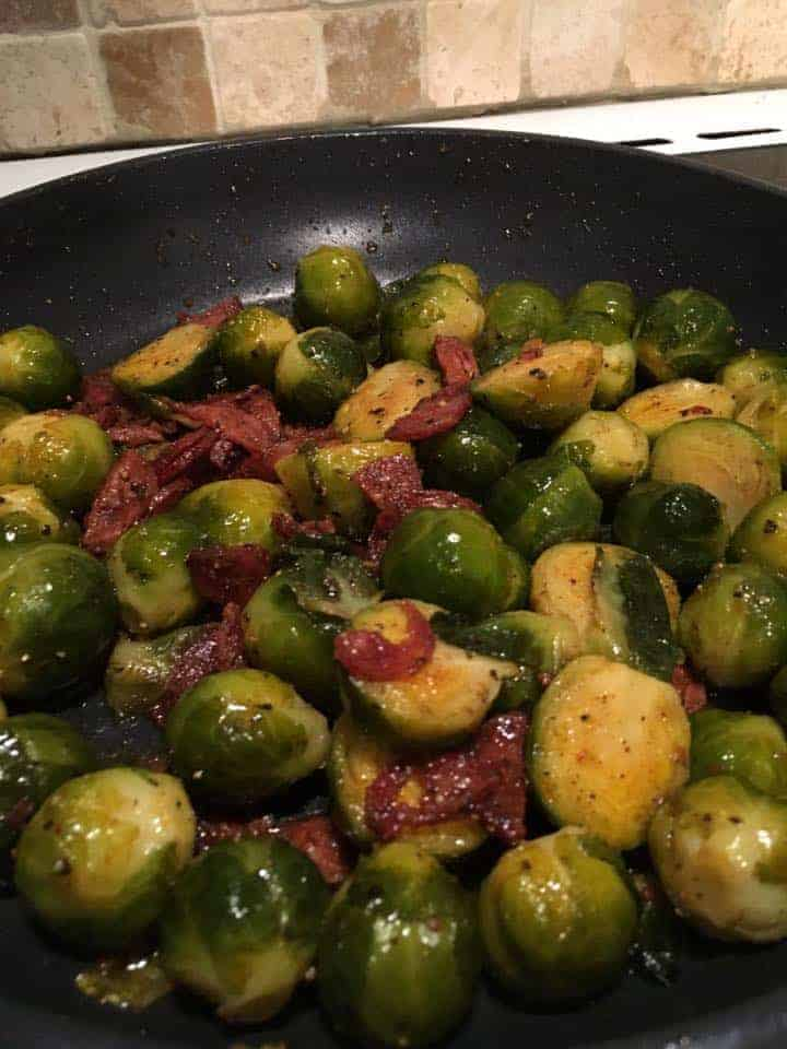 Chorizo and Brussel Sprouts